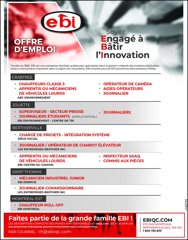 Logo de Plusieurs offres d'emploi chez EBI