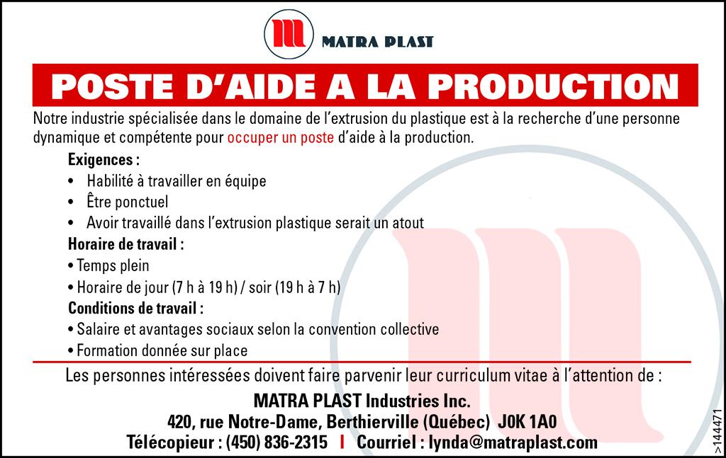 Logo de POSTE D'AIDE A LA PRODUCTION