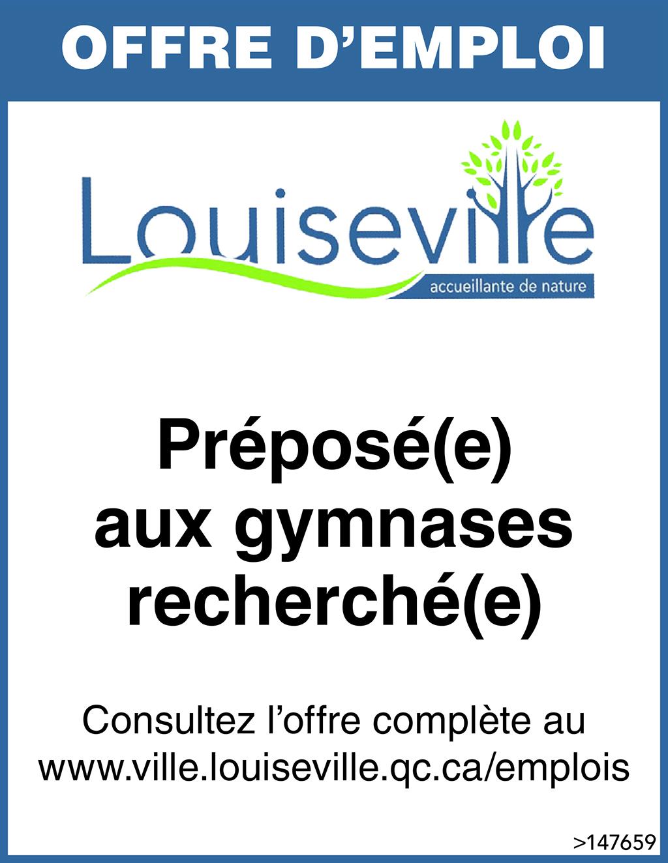 Logo de Préposé(e) aux gymnases recherché(e)