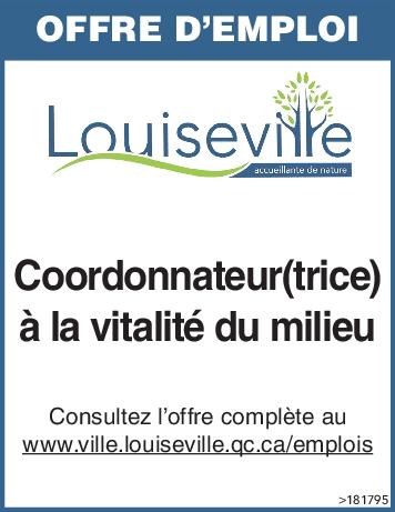 Logo de Coordonnateur(trice) à la vitalité du milieu