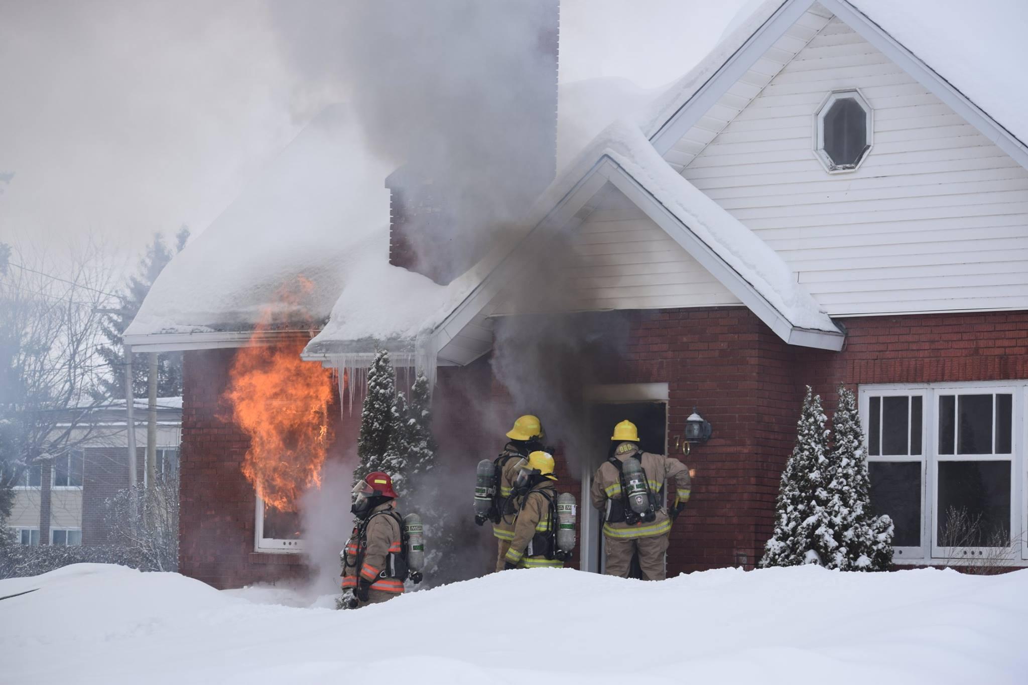 Incendie dans une maison à Louiseville