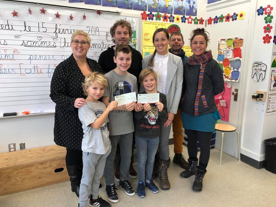 500$ pour la Fondation de l'école alternative de la Tortue-des-Bois