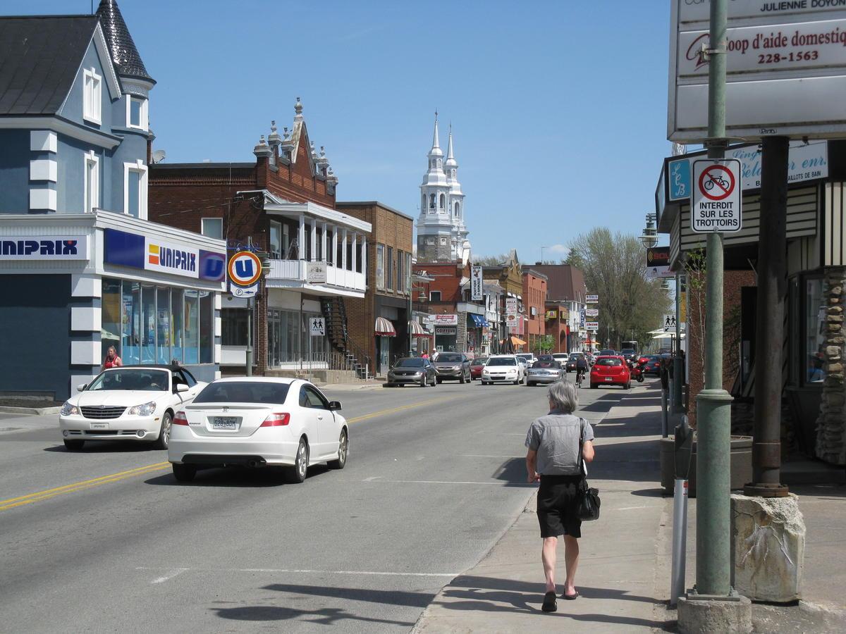 Le centre-ville de Louiseville