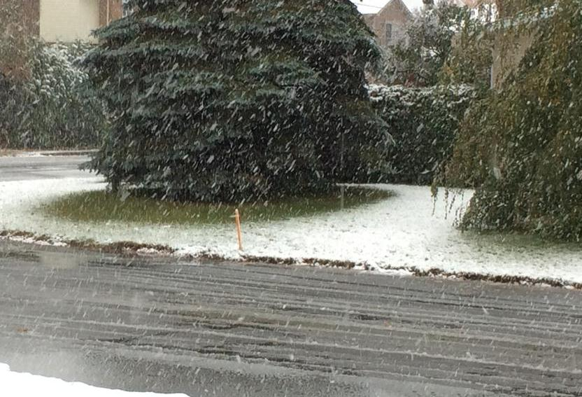 Déjà de la neige à Saint-Alexis-des-Monts?