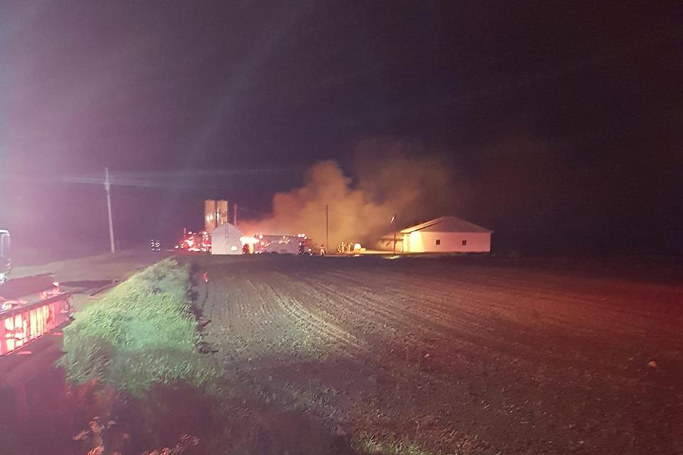 Des centaines de porcs périssent dans un incendie à Sainte-Ursule