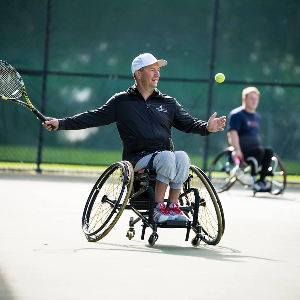 Tournoi de tennis en fauteuil roulant à Louiseville