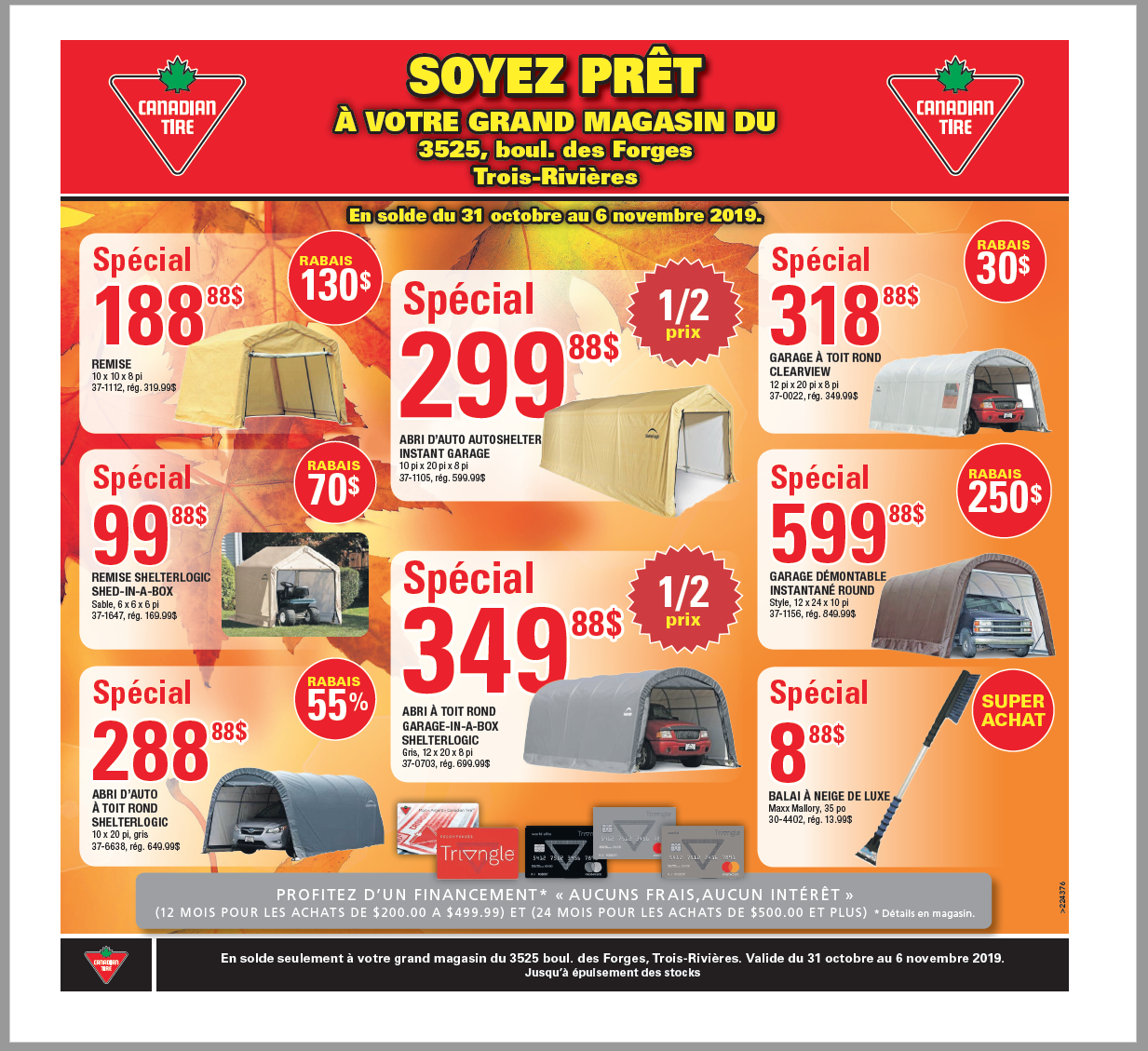 JAQUETTE CANADIAN TIRE - 30 OCTOBRE 2019
