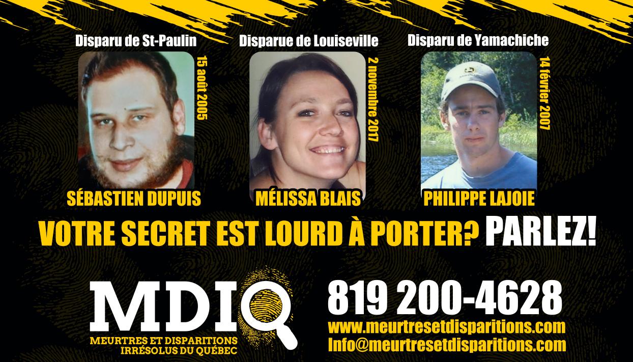 Louiseville diffuse les images de personnes disparues
