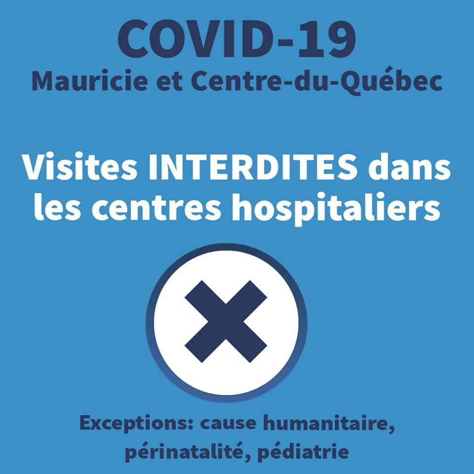 Les visites en centre hospitalier suspendues