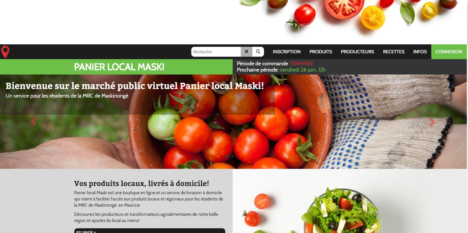 Panier local Maski : un marché public en ligne pour la MRC de Maskinongé