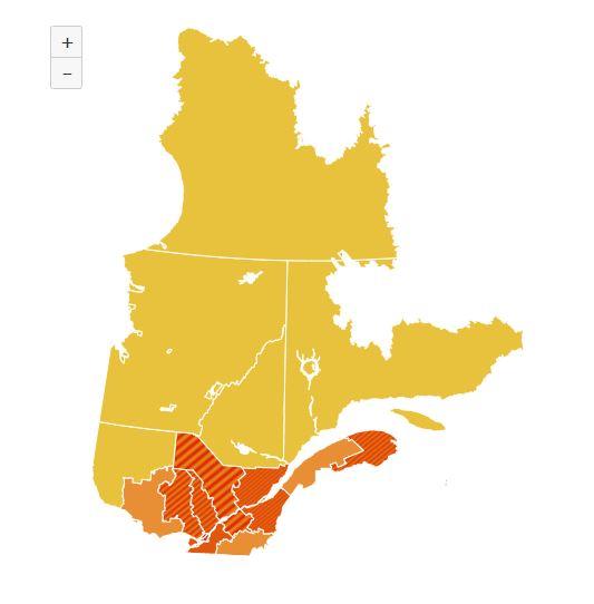 COVID-19: Trois-Rivières passe en zone rouge