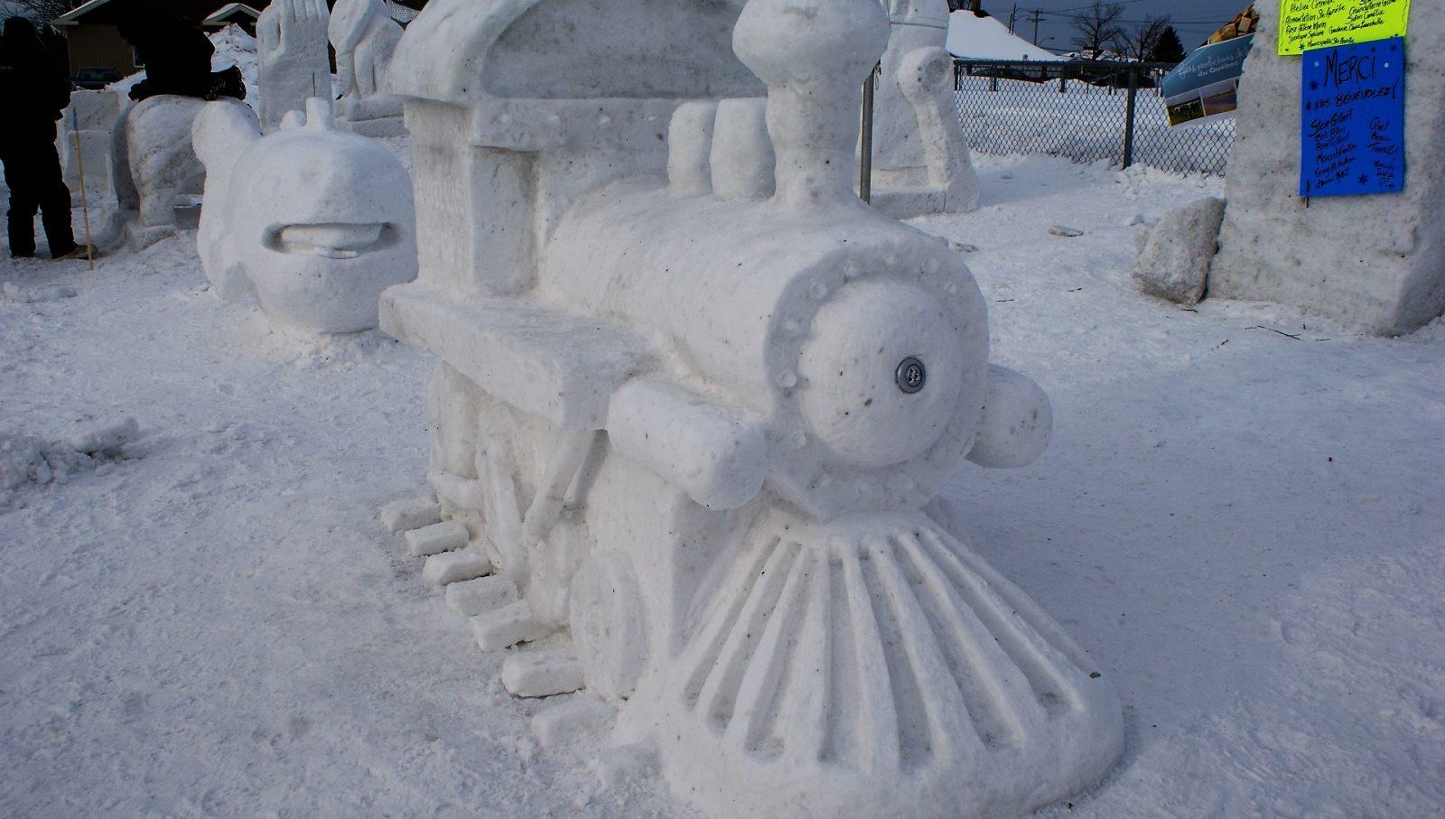 Un concours de sculpture sur neige s'organise à Maskinongé