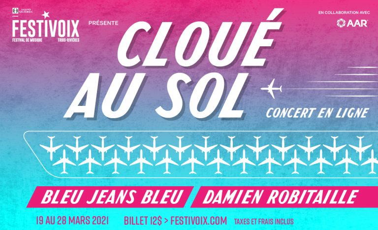 Damien Robitaille et Bleu Jeans Bleu en concert virtuel… à partir de l'aéroport!