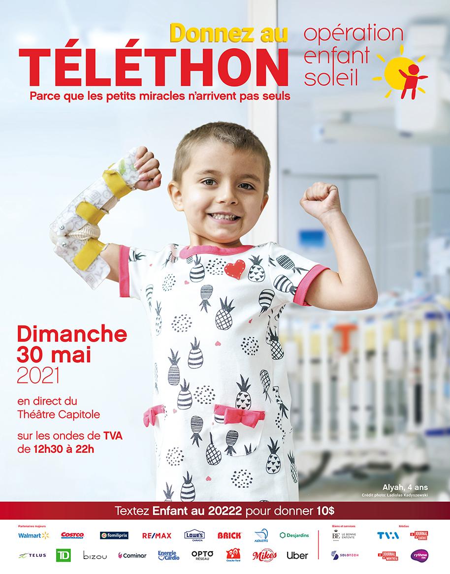 Place au 34e Téléthon Opération Enfant Soleil