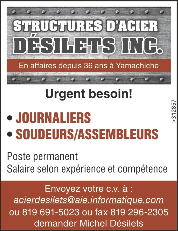 Logo de • JOURNALIERS • SOUDEURS/ASSEMBLEURS