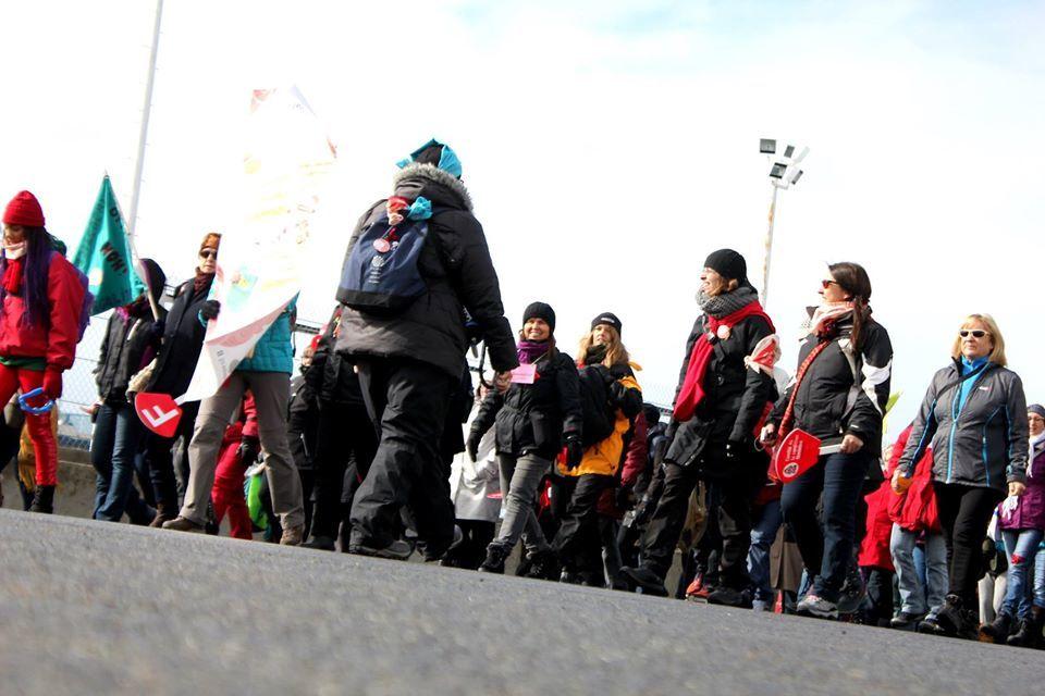 Place à la 5e Marche Mondiale des Femmes du Québec